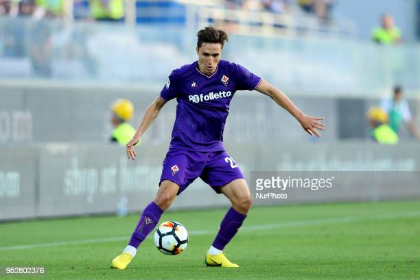 Federico Chiesa of Fiorentina at Artemio Franchi Stadium in Florence Italy on April 29 during Serie A match between ACF Fiorentina v SSC Napoli