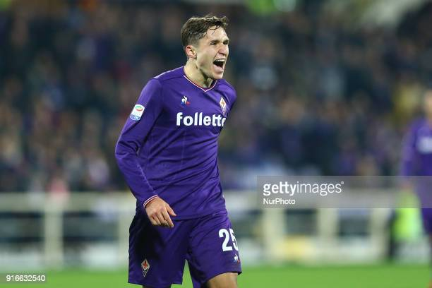 Federico Chiesa of Fiorentina during the serie A match between ACF Fiorentina and Juventus at Stadio Artemio Franchi on February 9 2018 in Florence...