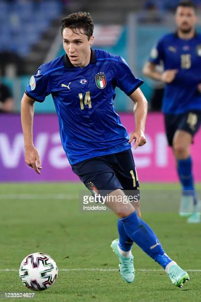 Federico Chiesa of Italy in action during the Uefa Euro 2020 Group A football match between Italy and Switzerland. Italy won 3-0 over Switzerland.