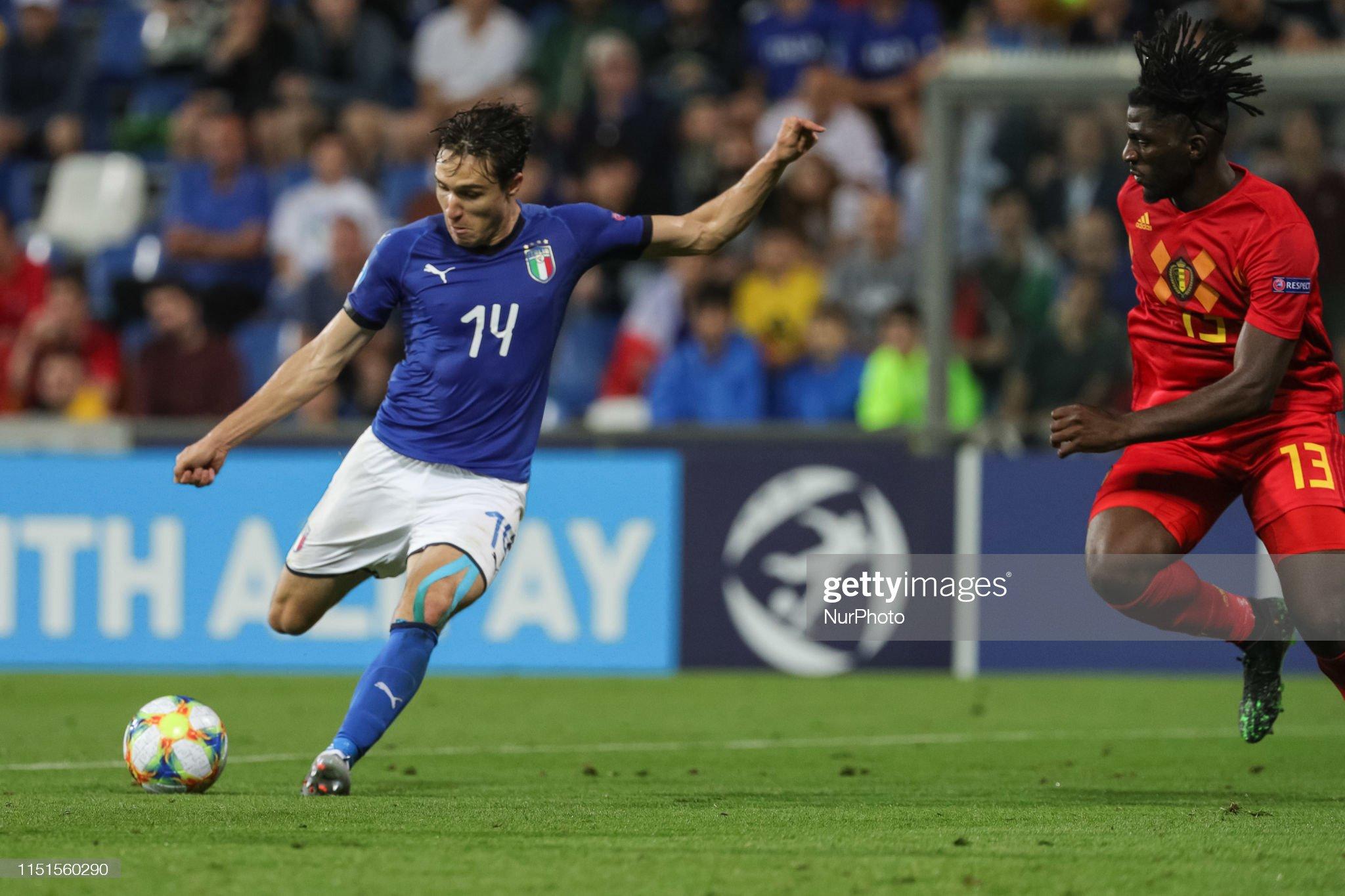 Belgium v Italy: Group A - 2019 UEFA U-21 Championship : Fotografia de notícias
