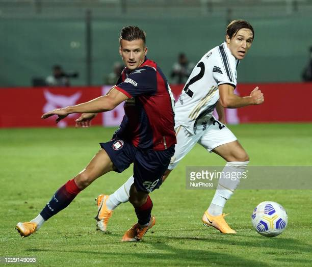 Federico Chiesa of Juventus Fc during the Serie A match between Fc Crotone and Juventus Fc on October 17 2020 stadium quotEzio Scidaquot in Crotone...