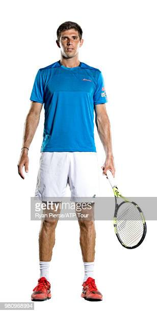 Federico Delbonis of Argentina poses for portraits during the Australian Open at Melbourne Park on January 10 2018 in Melbourne Australia