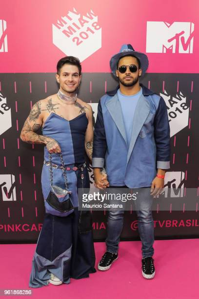 Federico Devito and Douglas attends the MTV MIAW 2018 at Citibank Hall on May 23 2018 in Sao Paulo Brazil