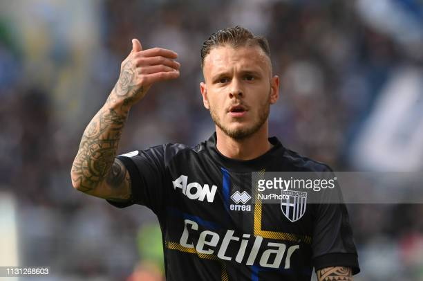 Federico Di Marco during the Italian Serie A football match between SS Lazio and Parma at the Olympic Stadium in Rome on march 17 2019
