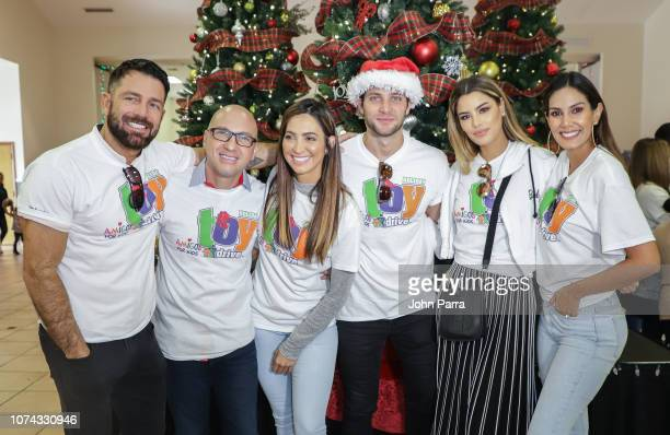 Federico Diaz Daniel Campos Erika Csiszer Gabriel Coronel Ariadna Gutierrez and Catalina Robayo attends the Amigos For Kids 27th Annual Holiday Toy...