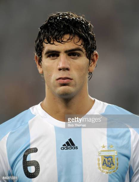 Federico Fazio of Argentina during the Men's First Round Group A match between Argentina and Serbia at the Workers' Stadium on Day 5 of the Beijing...