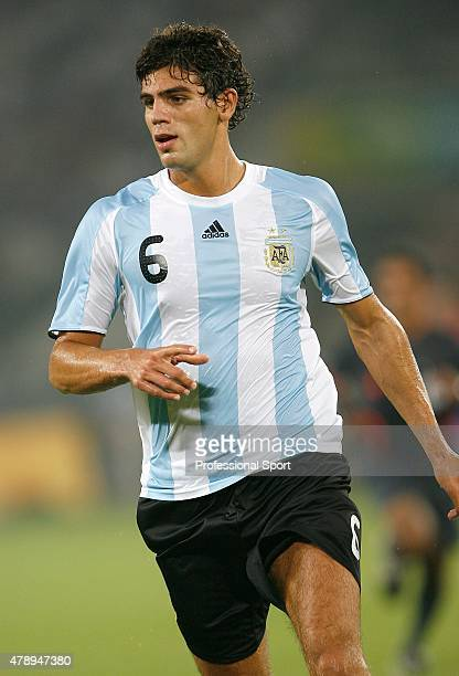 Federico Fazio of Argentina in action during the Men's First Round Group A match between Argentina and Serbia at the Workers' Stadium on Day 5 of the...