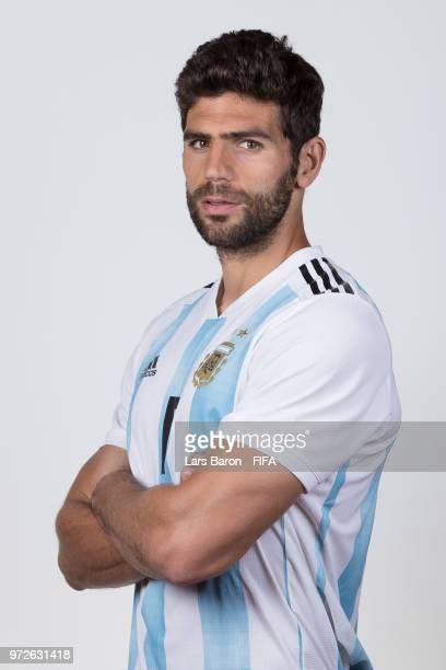 Federico Fazio of Argentina poses for a portrait during the official FIFA World Cup 2018 portrait session on June 12 2018 in Moscow Russia