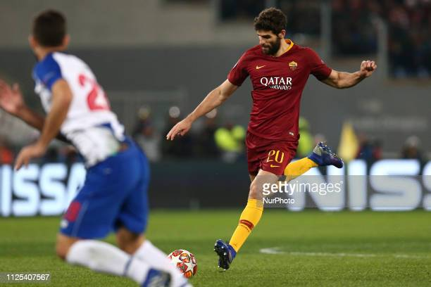 Federico Fazio of AS Roma during the UEFA Champions League 2018/2019 match between AS Roma and FC Porto at Stadio Olimpico on February 12, 2019 in...