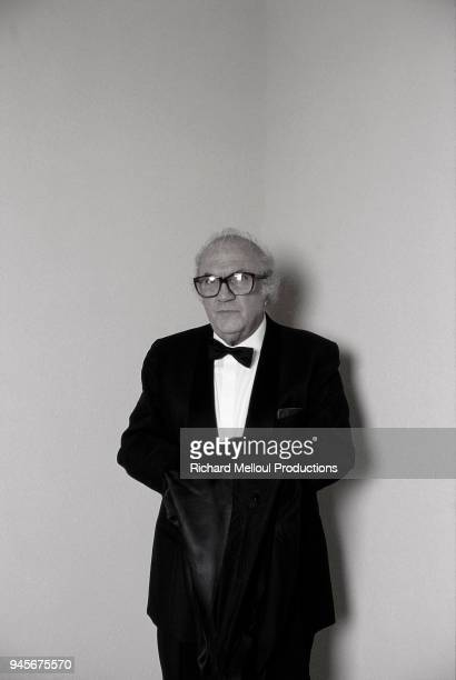 Federico Fellini attends the Cannes Film Festival 19th May 1987