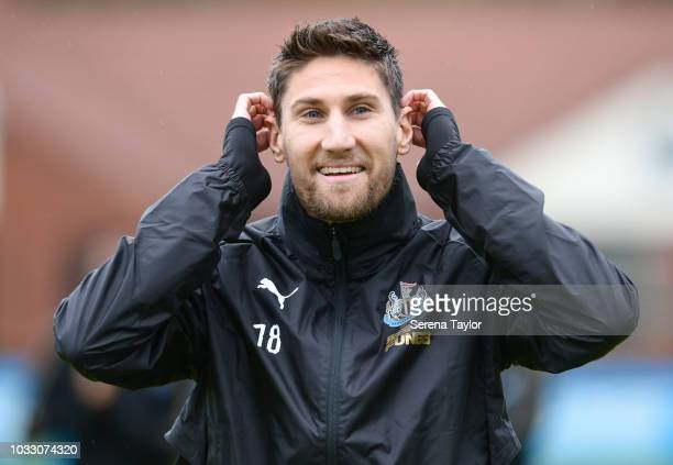 Federico Fernandez during the Newcastle United Training Session at the Newcastle United Training Centre on September 14 in Newcastle upon Tyne England