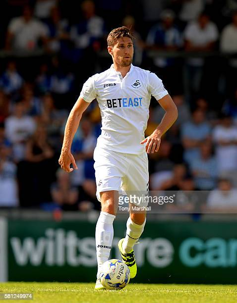 Federico Fernandez of Swansea City during the PreSeason Friendly match between Bristol Rovers and Swansea City at Memorial Stadium on July 23 2016 in...