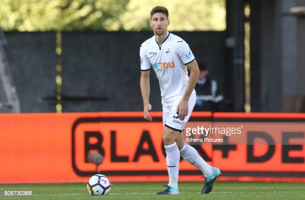 Federico Fernandez of Swansea City during the preseason friendly match between Swansea City and Sampdoria at The Liberty Stadium on August 5 2017 in...