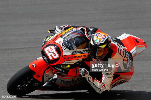 Federico Fuligni of Italy and Forward Racing Team rides in free practice during the MotoGP of Germany at Sachsenring Circuit on June 30 2017 in...