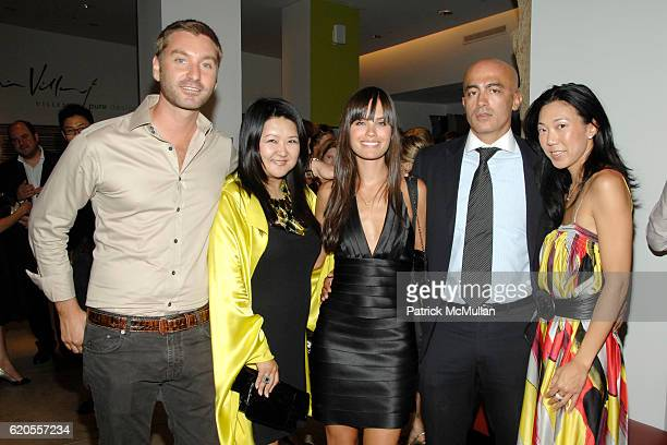 Federico Galeotti Susan Shin Desiree Dymond Alex Tahsili and Diana Hsu attend VILLENCY PURE DESIGN Cocktail Party for BICYCLE FOR A DAY with MATTHEW...
