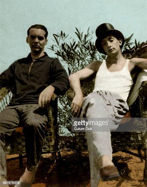 Federico Garc'a Lorca and Salvador Dali in CadaquŽs Spain Photo by Enrique Beck FGL Spanish write playwright 5 June 1898 19 August 1936 SD Spanish...