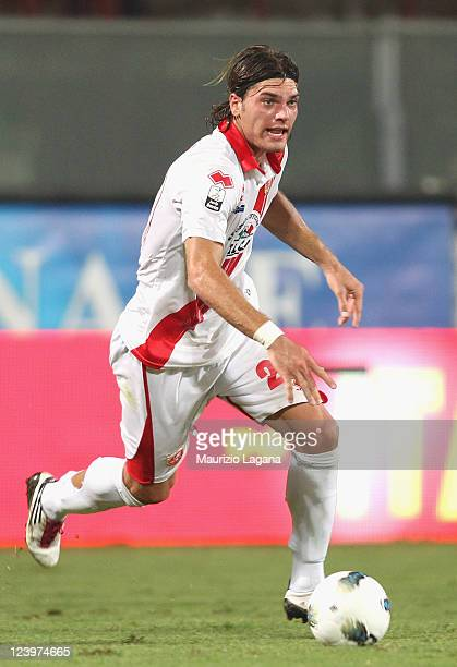 Federico Gerardi of Grosseto runs with the ball during the Serie B match between Reggina Calcio and US Grosseto FC at Stadio Oreste Granillo on...