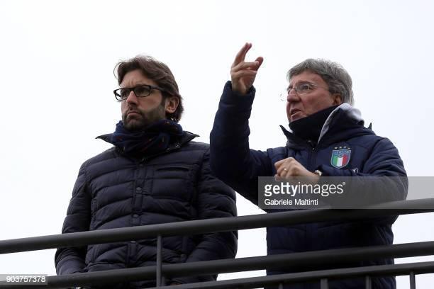 Federico Guidi and Mauro Sandreani during 'Torneo dei Gironi' Italian Football Federation U16 Tournament at Coverciano on January 11 2018 in Florence...