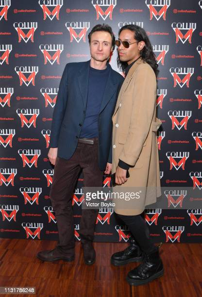 Federico Guiscardo and Santiago Invernizzi attends Collini Unminimal Party Milan Fashion Week Autumn / Winter 2019/20 on February 20 2019 in Milan...