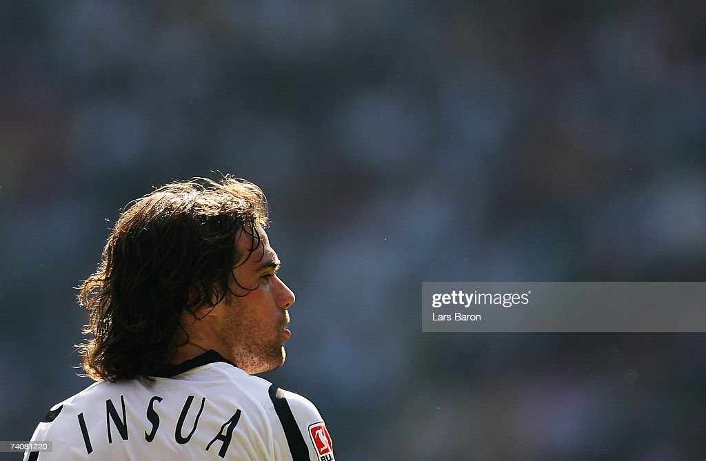 Federico Insua of Monchengladbach looks on during the Bundesliga match between Borussia Monchengladbach and Bayern Munich at the Borussia Park on May 5, 2007 in Monchengladbach, Germany.