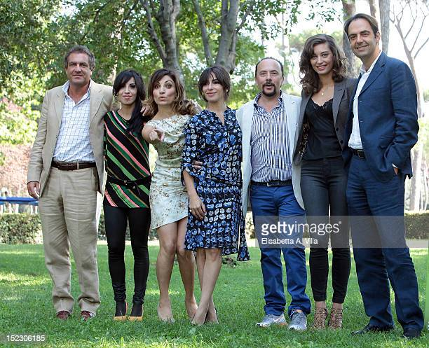 Federico Landini singer Ania actresses Paola Lavini and Sabrina Impacciatore director Maurizio Casagrande actress Margareth Made and actor Neri...