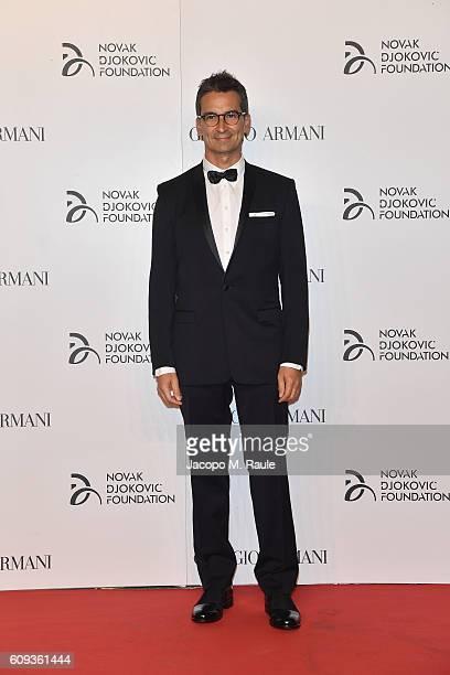 Federico Macchetti attends the Milano Gala Dinner benefitting the Novak Djokovic Foundation presented by Giorgio Armani at Castello Sforzesco on...