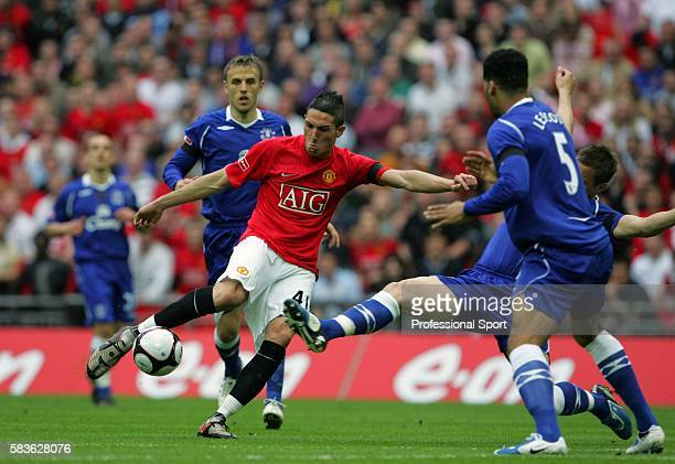Federico Macheda of Manchester United in action during the FA Cup SemiFinal match between Manchester United and Everton at Wembley Stadium in London...