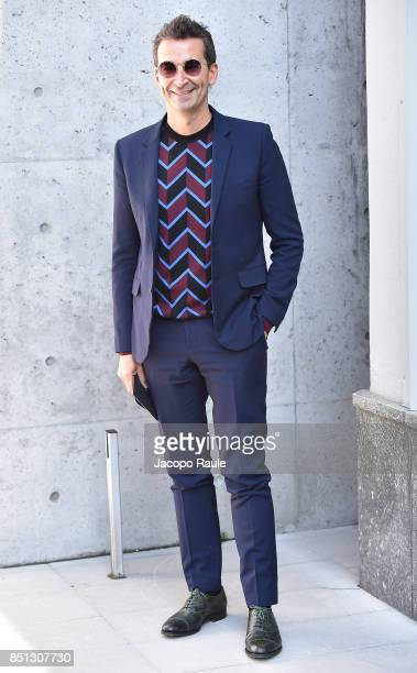 Federico Marchetti attends the Giorgio Armani show during Milan Fashion Week Spring/Summer 2018 on September 22 2017 in Milan Italy