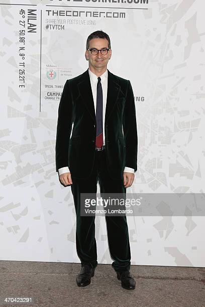 Federico Marchetti attends the The Vogue Talents Corner fashion show during Milan Fashion Week Womenswear Autumn/Winter 2014 on February 19 2014 in...