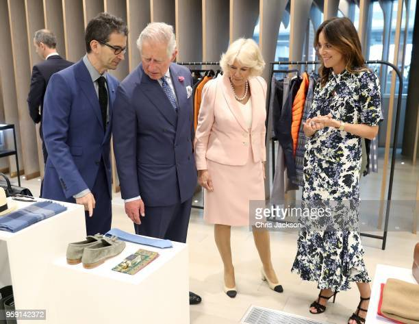 Federico Marchetti CEO YOOX NETAPORTER GROUP Prince Charles Prince of Wales Camilla Duchess of Cornwall and Alison Loehnis President of NETAPORTER MR...