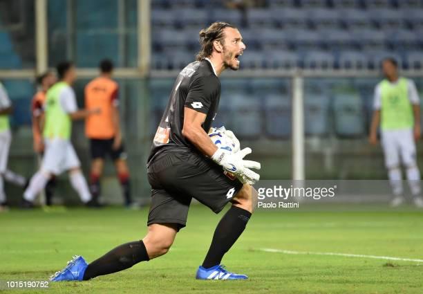 Federico Marchetti Genoa's goalkeeper during the Coppa Italia match between Genoa CFC and Lecce at Stadio Luigi Ferraris on August 11 2018 in Genoa...