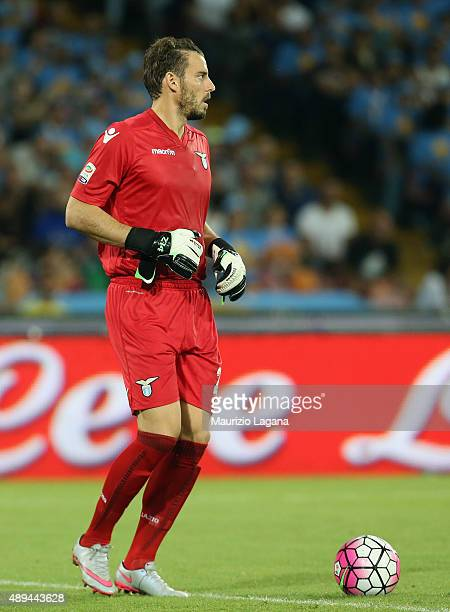 Federico Marchetti of Lazio during the Serie A match between SSC Napoli and SS Lazio at Stadio San Paolo on September 20 2015 in Naples Italy