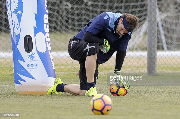 Federico Marchetti of SS Lazio during a training session on January 24 2017 in Rome Italy
