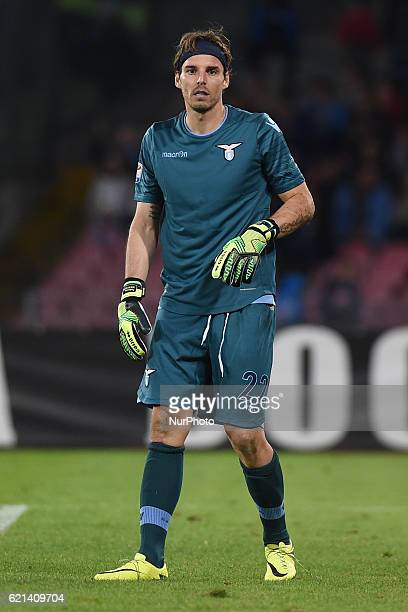 Federico Marchetti of SS Lazio during the Serie A Tim match between SSC Napoli and SS Lazio at Stadio San Paolo Naples Italy on 5 November 2016