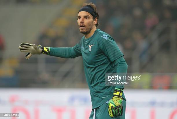 Federico Marchetti of SS Lazio gestures during the TIM Cup match between FC Internazionale and SS Lazio at Stadio Giuseppe Meazza on January 31 2017...