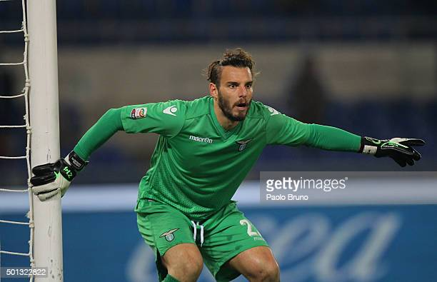 Federico Marchetti of SS Lazio in action during the Serie A match betweeen SS Lazio and UC Sampdoria at Stadio Olimpico on December 14 2015 in Rome...