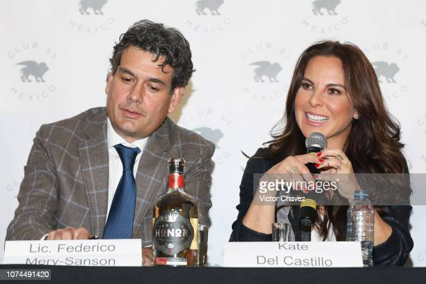 Federico MerySanson and actress Kate del Castillo attend a press conference at Club 51 on December 20 2018 in Mexico City Mexico