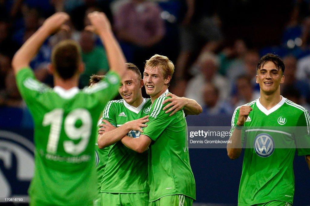 Schalke 04 v VfL Wolfsburg - A Juniors Championship Second Leg : News Photo