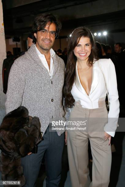 Federico Pastorello and Leona Koenig attend the Giambattista Valli show as part of the Paris Fashion Week Womenswear Fall/Winter 2018/2019 on March 5...