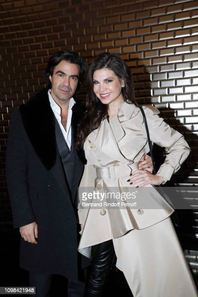 Federico Pastorello and Leona Koenig attend the JeanPaul Gaultier Haute Couture Spring Summer 2019 show as part of Paris Fashion Week on January 23...