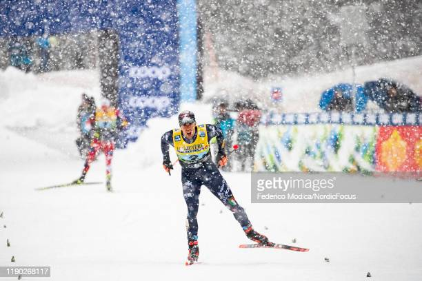 Federico Pellegrino of Italy competes during the Men's Team Sprint F Finals at the FIS CrossCountry World Cup Planica on December 22 2019 in Planica...