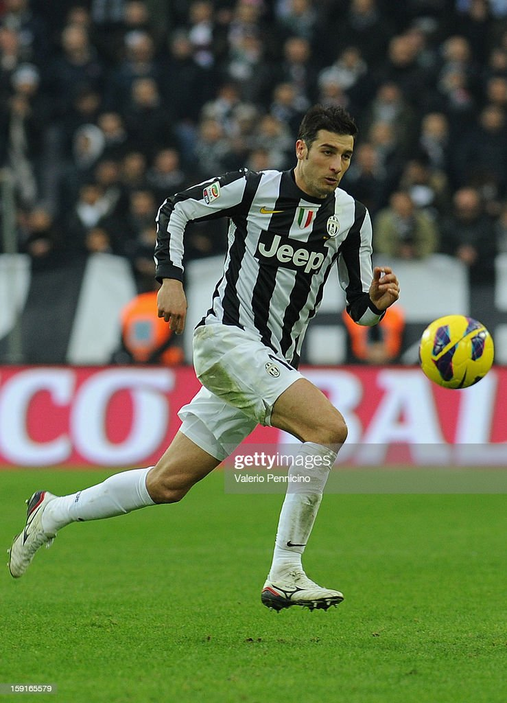 Federico Peluso of Juventus FC in action during the Serie A match between Juventus FC and UC Sampdoria at Juventus Arena on January 6, 2013 in Turin, Italy.