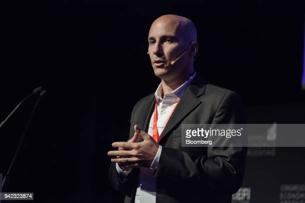 Federico Perez portfolio manager for Axis Inversiones speaks during the ExpoEFI conference in Buenos Aires Argentina on Thursday April 5 2018 The...