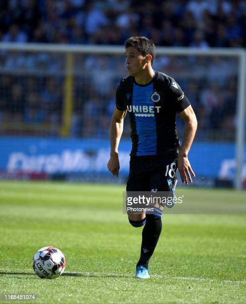 Federico Ricca of Club Brugge during the Jupiler Pro League match between Club Brugge and KRC Genk at the Jan Breydel stadium on September 01 2019 in...