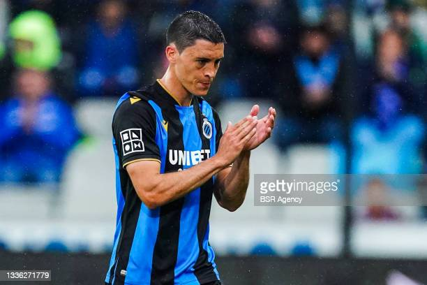 Federico Ricca of Club Brugge during the Jupiler Pro League match between Club Brugge and Beerschot VA at Jan Breydelstadion on August 22, 2021 in...