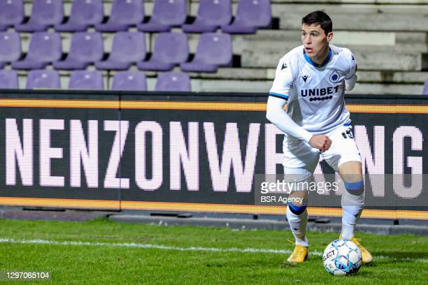 Federico Ricca of Club Brugge during the Pro League match between Beerschot and Club Brugge at Olympic Stadium on January 17, 2021 in Antwerp, Belgium