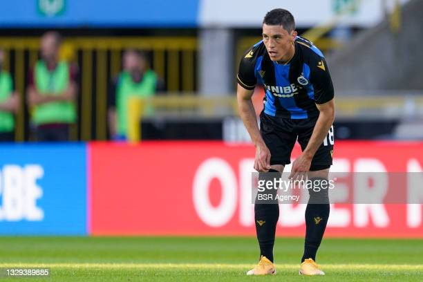 Federico Ricca of Club Brugge during the Pro League Supercup match between Club Brugge and KRC Genk at Jan Breydelstadion on July 17, 2021 in Brugge,...