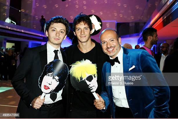 Federico Riccardo Rossi Federico Costantini and Alessandro Maria Ferreri attend the JTI party during the 10th Rome Film Fest on October 20 2015 in...