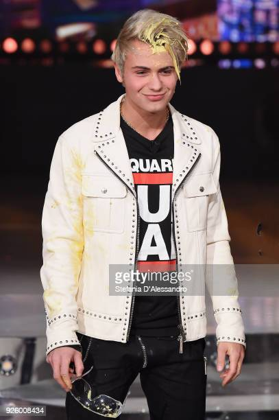 Federico Rossi of Benji Fede attends 'E Poi C'e' Cattelan Tv Show' on March 1 2018 in Milan Italy