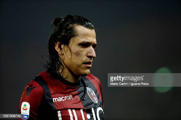 Federico Santander of Bologna FC looks on at the end of the Serie A match between Bologna FC and Atalanta BC at Stadio Renato Dall'Ara on November 4...